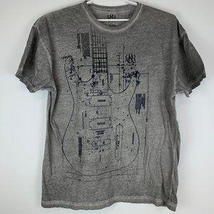 Rock & Republic Mens Shirt Guitar Patent XXL 2XL